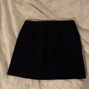 Navy JCrew wool skirt
